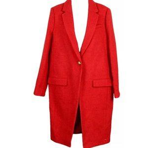 J Crew Collection Harris Tweed Topcoat Coat NEW